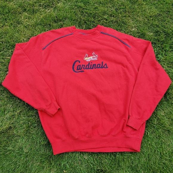 e54f6435 Red vintage St. Louis Cardinals crewneck pullover